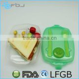 ~ 3-compartment Microwave Safe plastic lunch box with locks and compartments China Factory