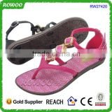 Factory price ladies pink sandals with stone fashion ladies summer sandals ladies pink pcu sandles wholesale