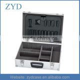 Aluminum Lockable Latches Suitcase Tool Box w/Padded Dividers,ZYD-TL006
