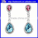 AAA Zircon Alloy Perfect Crystal Love Womens Wholesale Heart Earrings With Four Colors