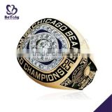 Brilliant black painting Chicago Bears champions gemstone rings