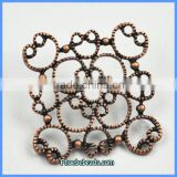 Wholesale Beautiful Zinc Alloy Hollow Out Flower Necklace Parts And Accessories PB-A18154