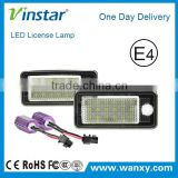 Fit Can-bus Error Free for Audi Q7 Car Number Plate Light 12V smd led license plate lamp