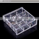 Hot sele acrylic jewelry case material acrylic drawer storage organizer clear small acrylic box transparent acrylic box