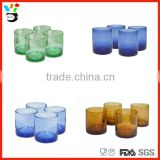 Factory - Made Artifical Blowing Opening Candlestick Cup Colored Glass Bubble Candle Holder