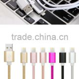 Top quality Mobile Phone USB Sync Data Cable 1m Nylon Data Line 2A Fast charge for Apple iPhones 5/5s/se/6/6s/6s plus/ipad mini