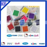 colorful plastic non-abrasive dish scouring round ink stamp pad