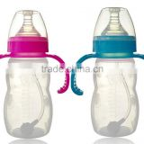 BPA-Free Glass Baby Bottle with Active Flow Venting Technology and Bonus Silicone Sleeve