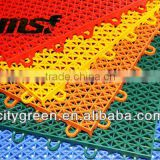 Wholesale - Waterproof Plastic Badminton Court Floor, Multi Purpose Interlocking Sports Flooring