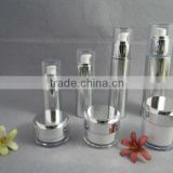 Plastic airless cream jars and lotion bottles