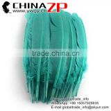 ZPDECOR Factory Exporting Beautiful Colored Peacock Blue Solid Color Turkey Feathers for Fashion Show