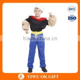 Wholesale Carnival Party Cartoon Popeye Kids Performance Cosplay Costume Suit