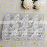 1.8*10*13 CM Clear Plastic Jewelry Box With 12 Small Pill Bead Storage Container Organizer
