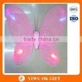 Pink LED butterfly cheap kids angel wings costume,