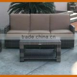 Classic 5 Seater Garden Sofa Furniture Outdoor Wicker Sofa Set Cushion Covered