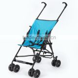 Lightweight alloy baby stroller with siting lying half lying usage quick folding function