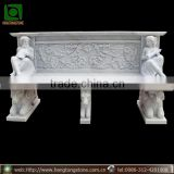 2016 popular garden marble bench with low price