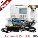 CE & ISO approved Digital 3-channel Vet Electrocardiograph Veterinary ECG EKG machine