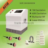 GuangZhou HETA Amazing Portable 5 IN 1 cavitation+RF+vacuum slimming machine, Weight Loss Salon Beauty Equipment, Customizable