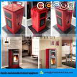 high efficient pellet stove from poland/ stove with chimney/ pellet stove with remote control
