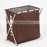 home Double Frame Laundry Separate Hamper, Folding Laundry Basket, Laundry Separator Hamper