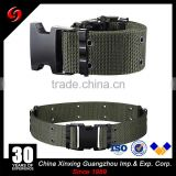 Army tactical police military BDU eyelets belt for army outdoor PP ribbon steel buckl or plastic buckle