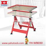 Commercial use Professional welding Stainless steel height adjustable and easy moving galvanized workbench/folding welding table