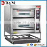 Double Use 3 Deck Oven,Electric Double Heat Deck Oven,Manual Control Board Double Deck Oven