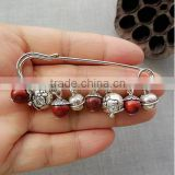 vintage style small charms brooch fashion ethnic beads charms brooch pins for sweater accessories