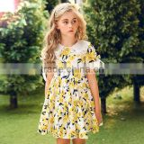 S60716B Children's Short Sleeve Flower Dress Baby Girl Beautiful Princess Dress