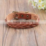BrownBeans, Womens Casual Brown Braided Leather Comfortable Bracelet
