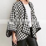 Runwaylover EY1049C wholesale new winter fashion cashmere cape poncho women duffle coat