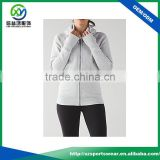Latest Design ladies 100% cotton light weight grey color windbreaker sports wear bomber jacket