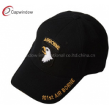 Black 101st AIRBORNE Military Baseball Hats , Pure Acrylic Curved Bill Army Baseball Caps