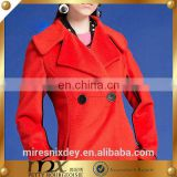 Western Suit Coat Double Breast Long Style overcoat woven wool fabric for winter overcoat