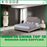 American Modern sleigh bed leather platform bed for home and hotel