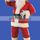 2012 fashion flannel christmas suit for adult christmas deoration
