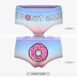 zohra 3d digital print new fashion thongs knickers short panty wholesale sexy lady underwear