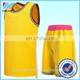 Dongguan Yihao Latest Basketball Jerseys Plain Design Wholesale Brand Basketball Uniforms Plus Size 2015