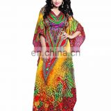 Women's Multi-Coloured Exclusive Party Wear Kaftan / Digital 3D printed Kaftan / Beach Wear Kaftan (kaftans 2017)