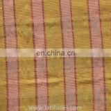 SILK FABRIC YELLOW AND RED AND PINK