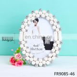 China supplier wholesale fashion metal photo frame new models pearl good photo frame