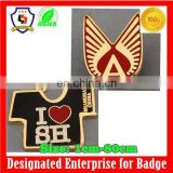 door to door service Manufacturer custom lapel metal pin badge t-shirt badges (HH-badge-733)
