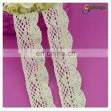 3.5cm cloth trims 100% cotton off white lace for blouse and skirt