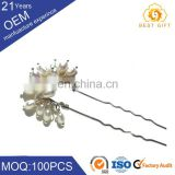 New fashion Pearl Flower Hair Jewelry Crystal Rhinestone Wedding Prom Hair Pins