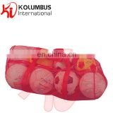 Football Bag in Mesh, Light Weight Foot Bag In Red Color, Soccer balls Storage Duffle Bag