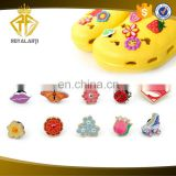 High Quality Flower Soft PVC Shoe Charm Lovely Decoration
