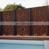 Waterproof Laser Cut Garden Decorative Partition Board in Corten Steel