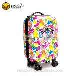 B.Duck fancy new design fashion luggage bags for girls