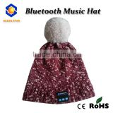 2016 new arrival Brands Knitted bluetooth Winter Hat with Pattern